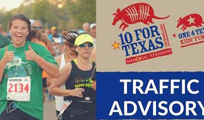 2016 Memorial Hermann 10 for Texas Race Lane Closure Information