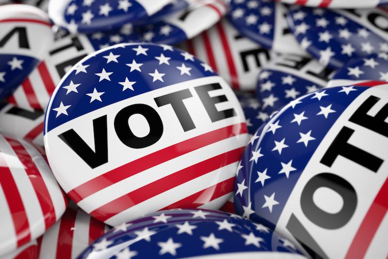 Vote Election 2020 Button