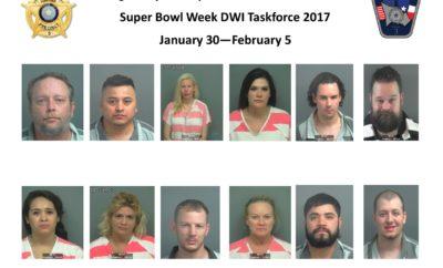 Super Bowl DWI Arrests