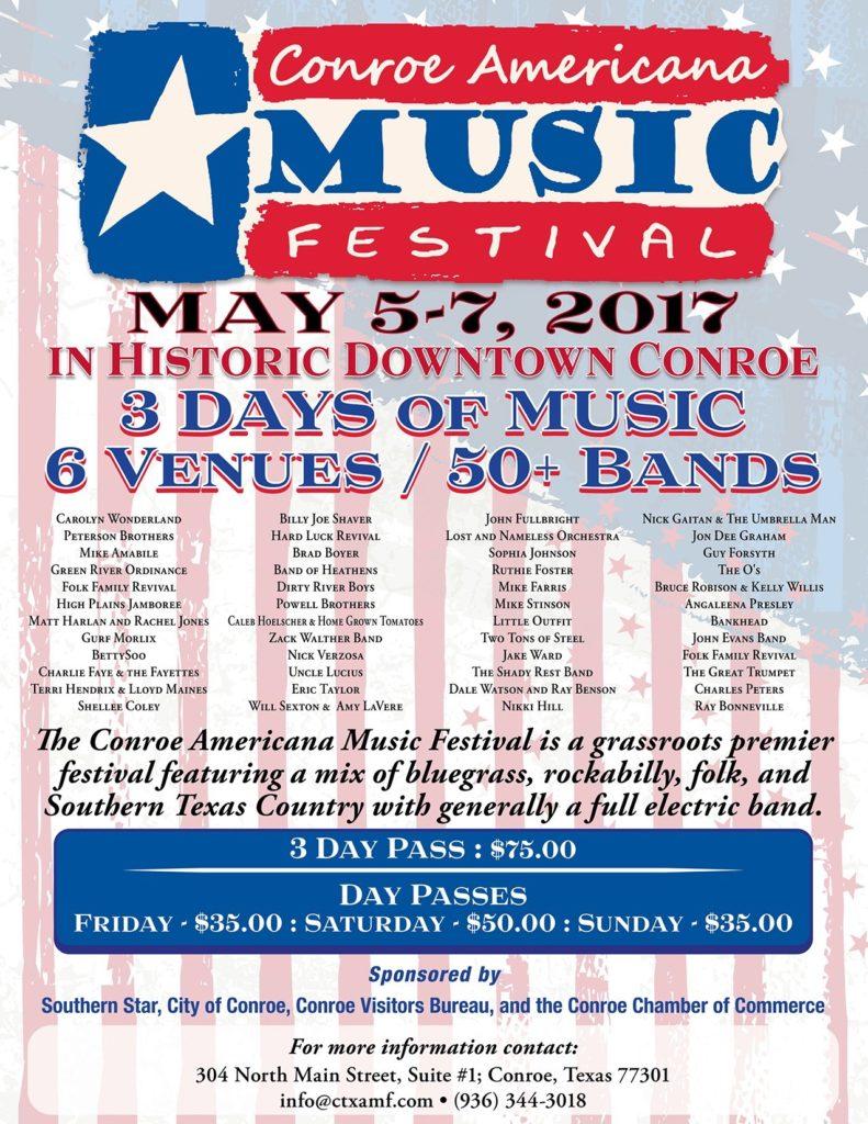 conroe americana festival flyer