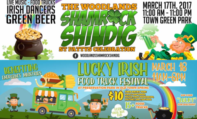 St patricks day events the woodlands