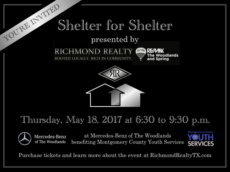 Shelter for shelter to raise funds for montgomery county for Mercedes benz woodlands service