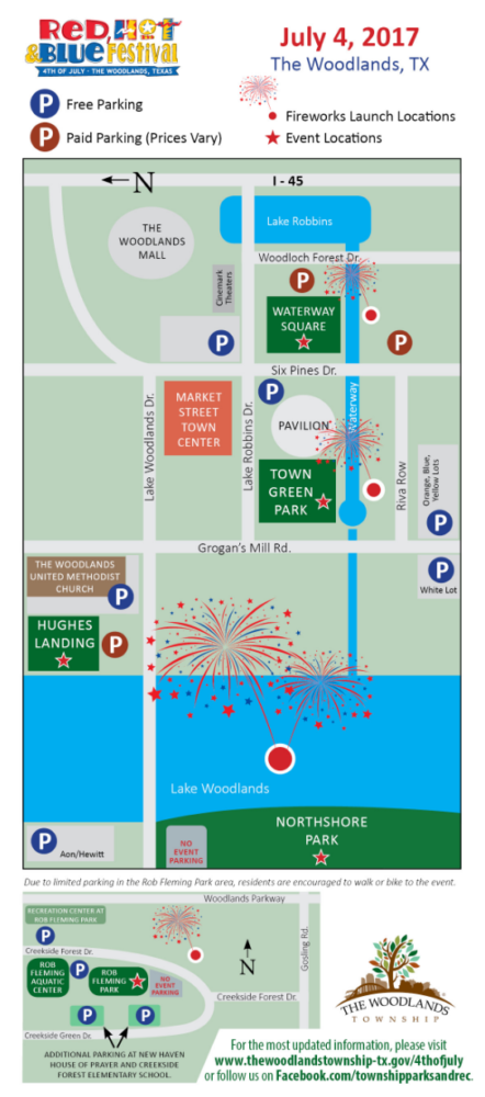 fireworks locations the woodlands