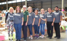 Howard Hughes Hospitality provided and served lunch to volunteers and families.