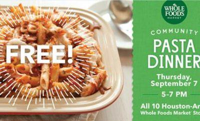whole foods community pasta dinner harvey