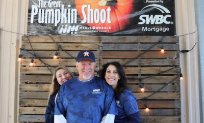The Great Pumpkin Shoot raised funds for Meals on Wheels Montgomery County on Friday, October 27 at the Blackwood Gun Club in Conroe, Texas.