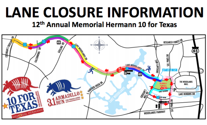 memorial hermann 10 for texas road closures