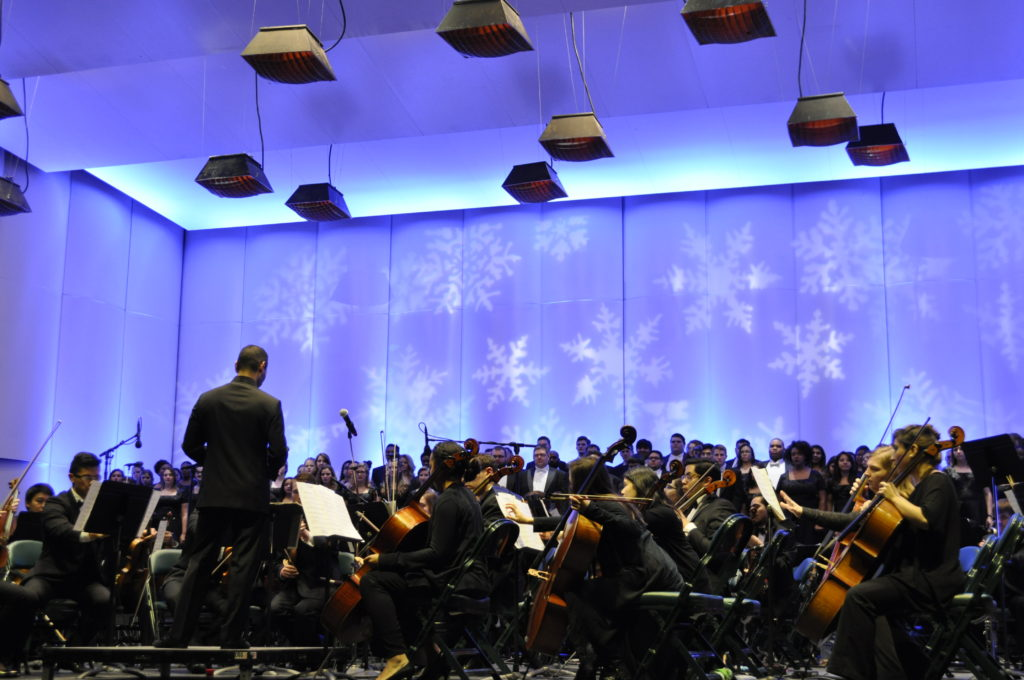 The Holly Jolly Jingle, a musical celebration of the season by local student performers and fun winter activities, returns to the Pavilion.