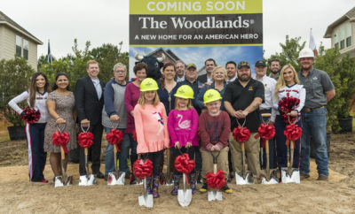 THE WOODLANDS, Texas – Just in time for the holidays, the Kadleck family broke ground on their new home on Tuesday, December 19. Operation FINALLY HOME, Beazer Homes, The Howard Hughes Corporation, the Houston Texans, and The Woodlands community joined U.S. Army Sgt. John Kadleck,his wife, Erin, and their children, to celebrate a groundbreaking ceremony at the site of the family's future custom-built, mortgage-free home.
