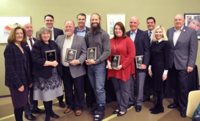 The Woodlands Township Board of Directors honored the Volunteers of the Year at a special reception on January 24, 2018. Left to right: Director Carol Stromatt, Darla D. Bell, Treasurer John Anthony Brown, Vice Chairman John McMullan, Bruce Morris, Chairman Gordy Bunch, Tim Golding, Alana Ashley, Stephen Terni, Secretary Dr. Ann Snyder, Director Brian Boniface and Director Bruce Rieser.