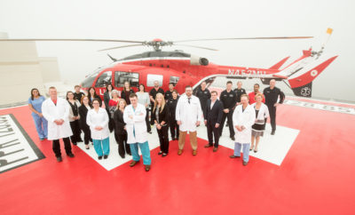 Trauma Team_Life Flight Helipad at MH The Woodlands Med Center
