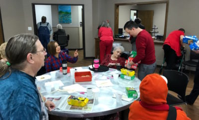 Commissioner Noack delivers Valentine's Day treats to Community Center Seniors