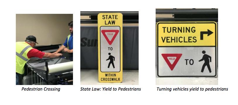 Commissioner Noack promotes pedestrian crosswalk safety
