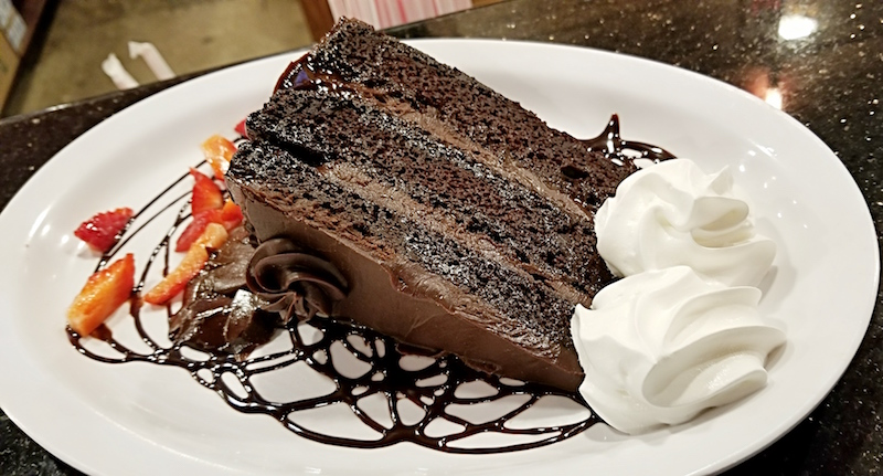 Chocolate Truffle Cake at Omega Grill