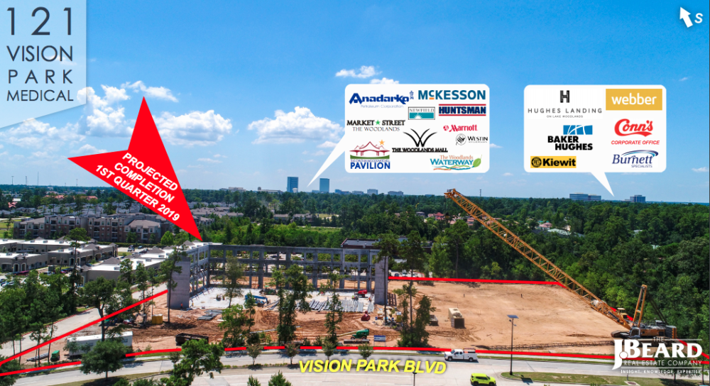 Construction is well underway for the new 121 Vision Park Medical Office Building at 121 Vision Park Boulevard. https://hellowoodlands.com/construction-underway-for-new-medical-office-building-at-121-vision-park/