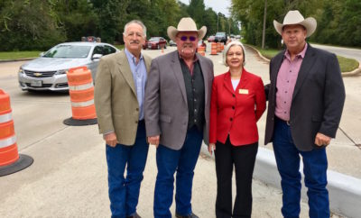 The Alden Bridge Village Association (ABVA) and the Montgomery County Precinct #2 Commissioner's Office announced the installation of concrete curb defined left-turn lanes in The Woodlands Village of Alden Bridge.