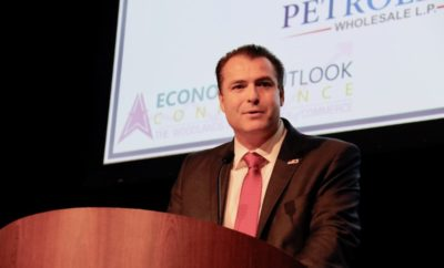 Township Chairman Gordy Bunch addresses leaders at Economic Outlook Conference