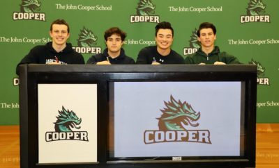 Senior athletes were recognized on National Signing Day at The John Cooper School who will be competing at the college level in the fall of 2019.