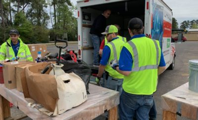 Precinct 3 Commissioner James Noack's Residential Recycling Facility served roughly 1,100 Montgomery County residents while collecting over 50,000 pounds of recyclables and household hazardous waste during its annual free day on Saturday, March 16.