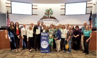 The Woodlands Township Board of Directors recognized The Woodlands G.R.E.E.N for their 30 years of contribution to the community and proclaimed April 2019 as Celebrate Earth Month…Celebrate The Woodlands G.R.E.E.N. Month.