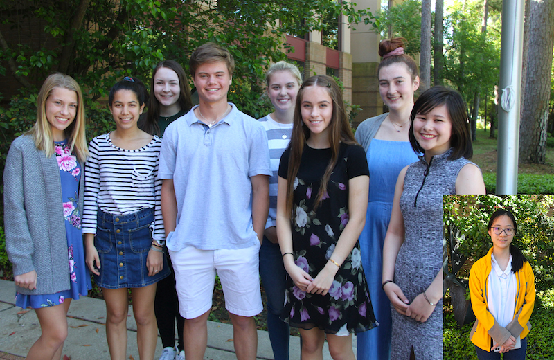 Nine students from The John Cooper School were awarded in the 2019 Student Art Scholarship Competition sponsored by The Woodlands Arts Council in April.