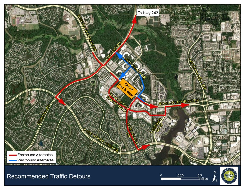 Weekend Road Closure for Emergency Water Line Repair; Research Forest Closed in Both Directions at Technology Forest