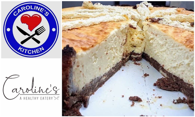 Caroline's Kitchen - Caroline's Brownie Crusted NY Style Baked Cheesecake. 100% Gluten Free and 100% Sugar Free photo by Caroline Cobell