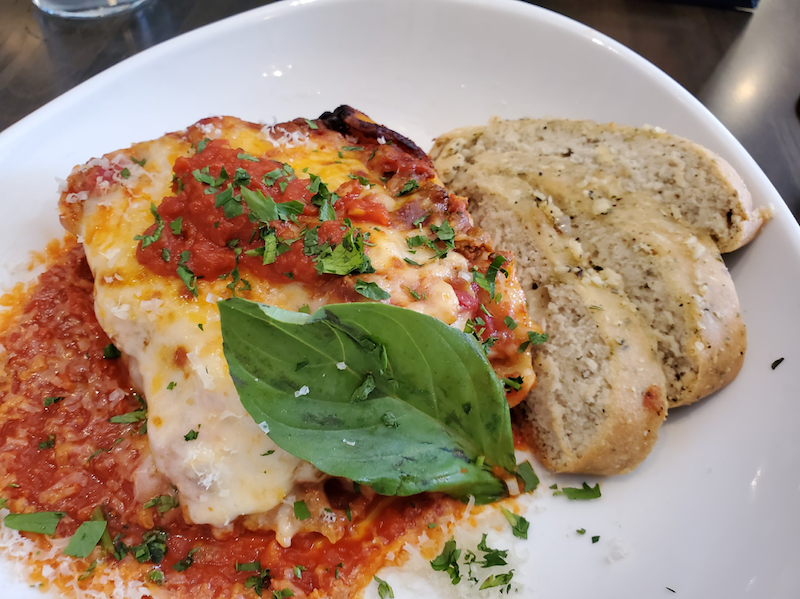 Lasagna Di Radunare - with house speciality meat sauce.