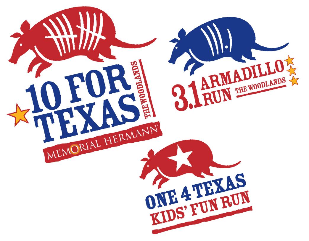 Memorial Hermann 10 for Texas, 3.1 Armadillo Run 5K & One 4 Texas - CANCELLED
