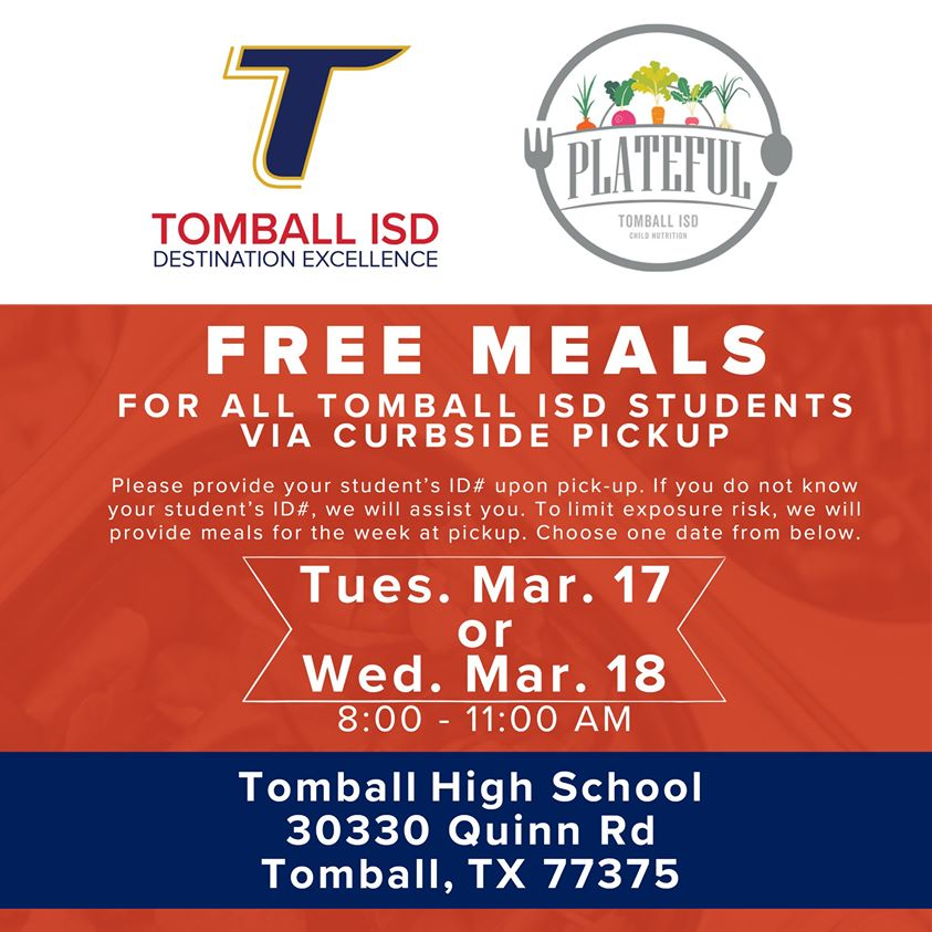 Tomball isd free student meal