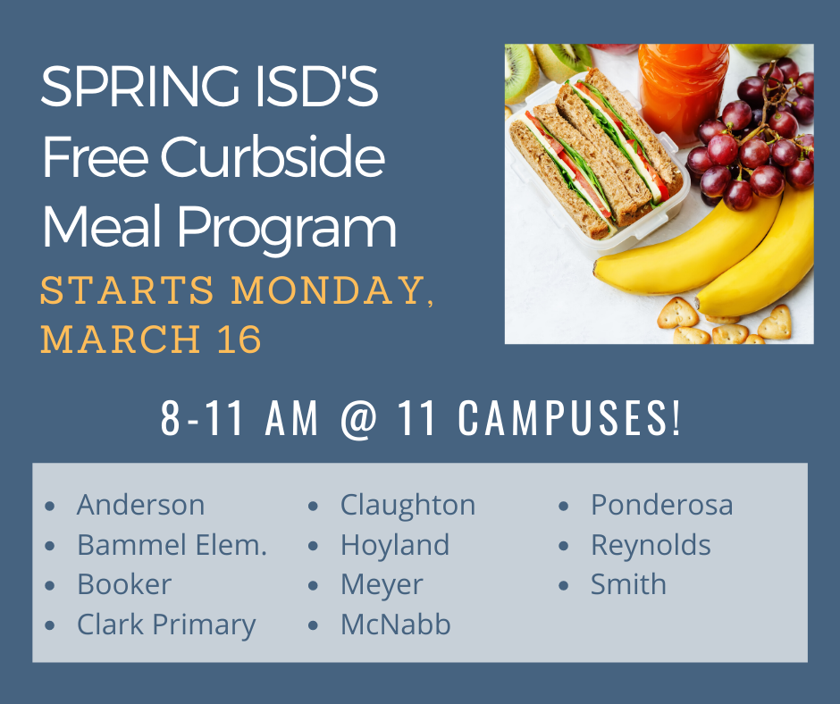 spring isd free student meal