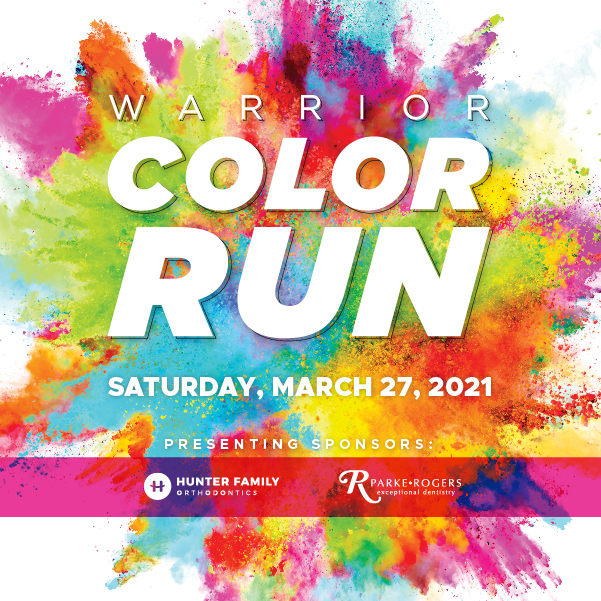 twca the woodlands christian academy warrior color run
