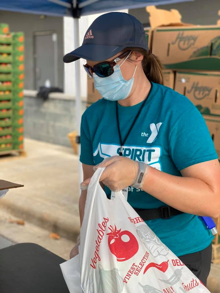 Mobile Market Food Drive at The Woodlands Family YMCA