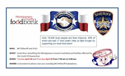 Montgomery County Sheriff Food Drive