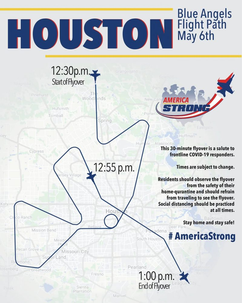 Blue Angels to fly over The Woodlands and Conroe area May 6
