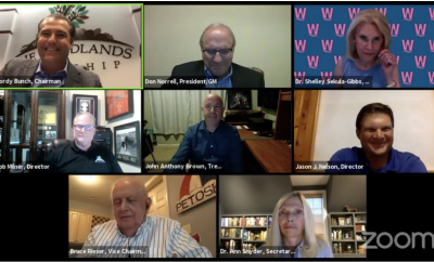 PHOTO: The Woodlands Township Board of Directors held its regular meeting via videoconference at 6 p.m. Thursday, June 18, 2020.