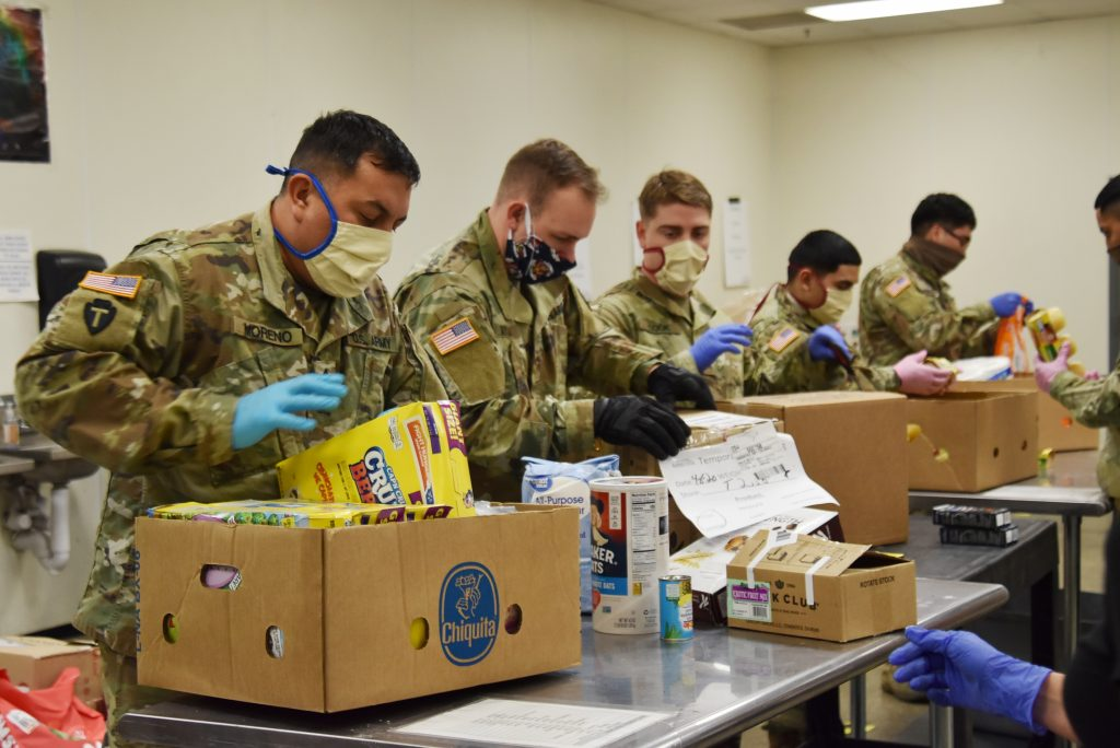 MCFB Montgomery County Food Bank 2020 National Guard
