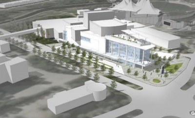 Artist's rendering of the Proposed Performing Arts Center at the Pavilion: