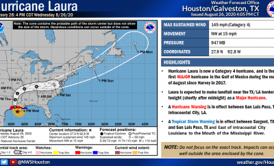 Hurricane Laura Category 4 4pm
