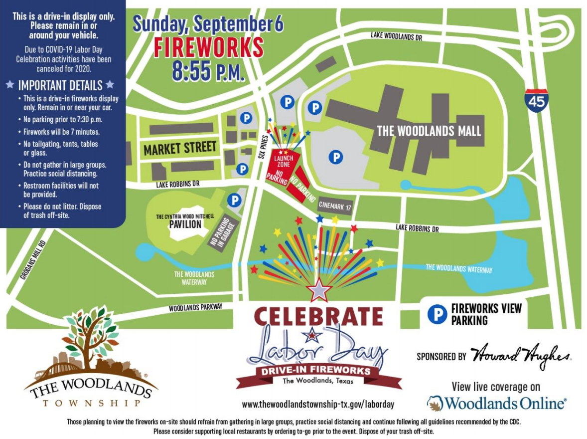 Township presents Labor Day Drive in Fireworks Display | Hello