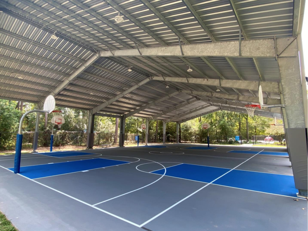 Township Opens New Covered Outdoor Sports Court Hello Woodlands
