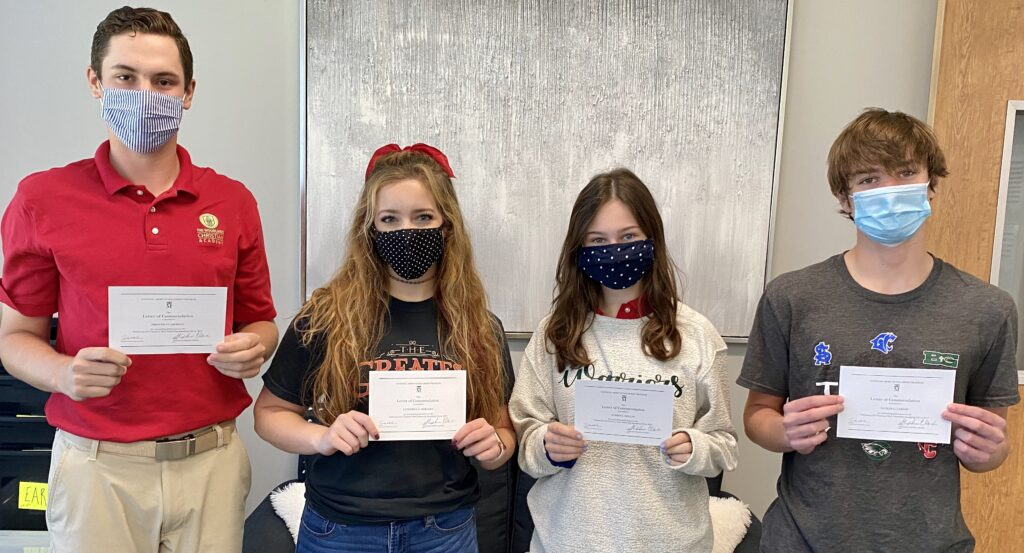 Commended Students TWCA The Woodlands Christian Academy Merit Scholarship 2020