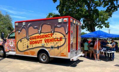 Hurts Donut Ambulance Woodlands Children's Museum