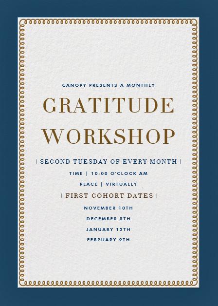 Gratitude Workshop at Canopy Cancer Survivorship Center
