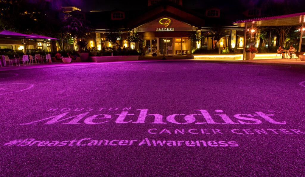 October Pink Central Park Market Street Breast Cancer Month 2020 Houston Methodist Cancer Center Woodlands