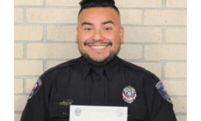 Shenandoah Police Department MADD Award 2020 Officer Jeremiah Ledesma