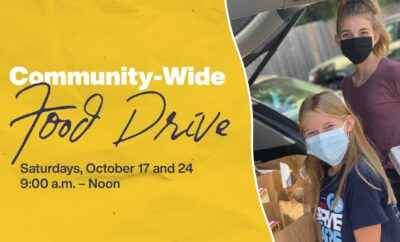 TWUMC Woodlands United Methodist Church community wide food drive 2020
