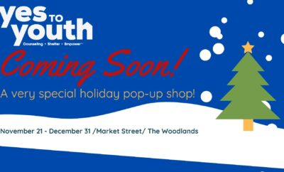 The Woodlands Christmas 2020 YES to YOUTH Hosts Christmas Tree Holiday Pop Up at Market Street