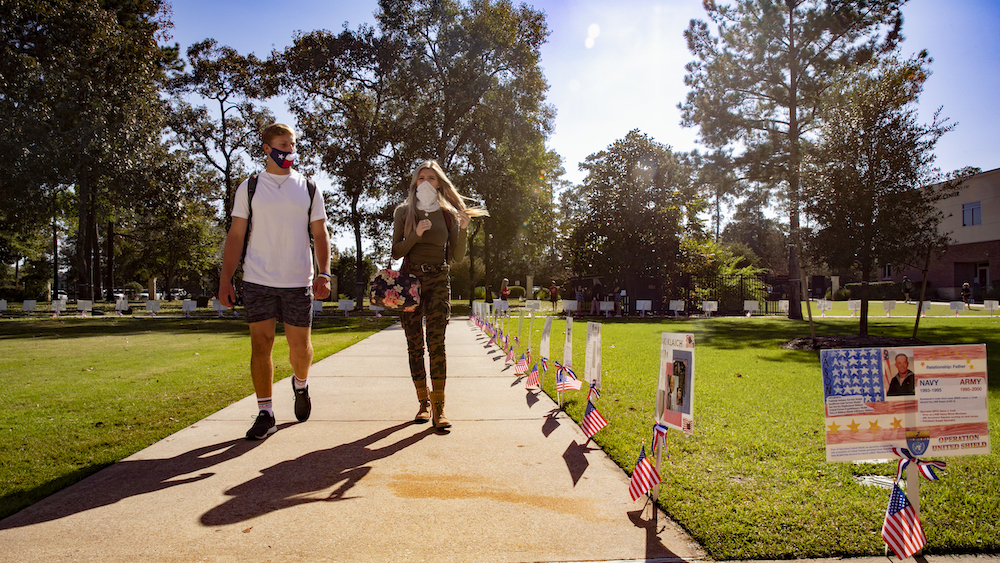 WOODLANDS CHRISTIAN HONOR VETERANS THROUGHOUT CAMPUS - The Woodlands,Texas - November 19, 2020
