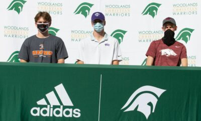 WOODLANDS CHRISTIAN SENIOR ATHLETES SIGN WITH COLLEGES